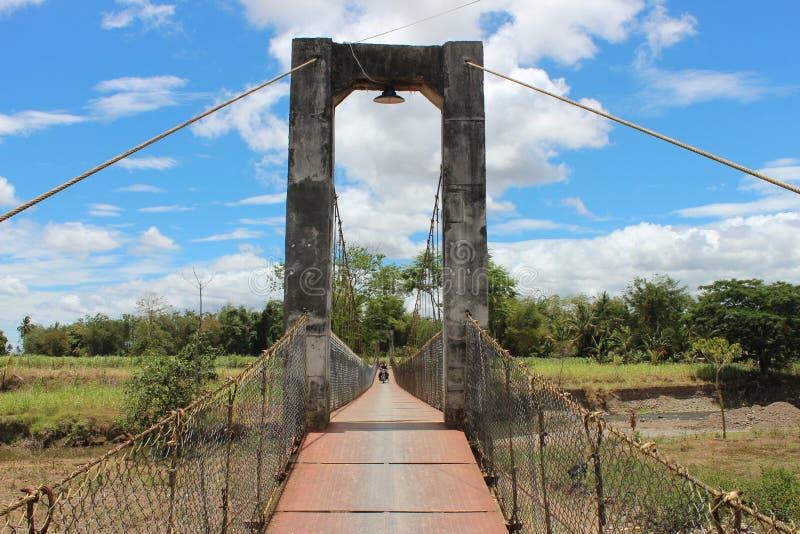 Puente de colgante imagen de archivo