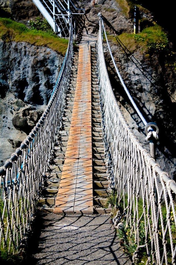 Puente de cuerda de Carrickarede fotografía de archivo libre de regalías