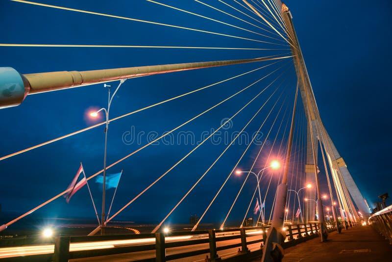 Puente de cuerda de Rama VIII fotografía de archivo libre de regalías