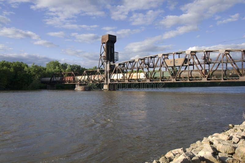 Puente de elevación del ferrocarril de Hastings foto de archivo