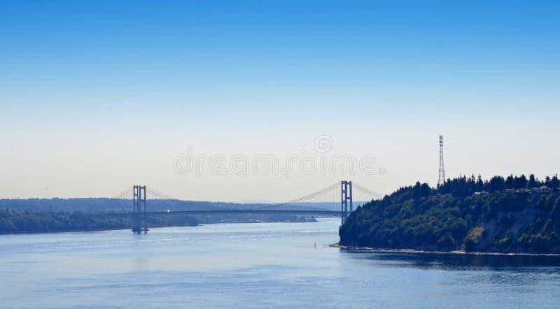 Puente de estrechos de Tacoma imagen de archivo libre de regalías