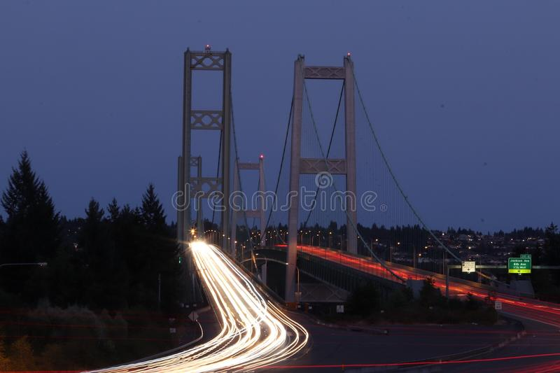 Puente de estrechos de Tacoma imagen de archivo
