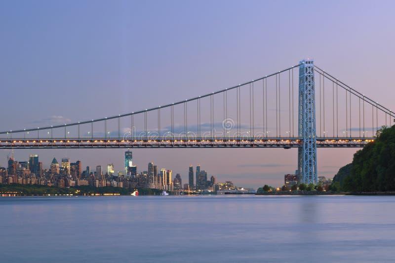 Puente de George Washington, Nueva York. foto de archivo