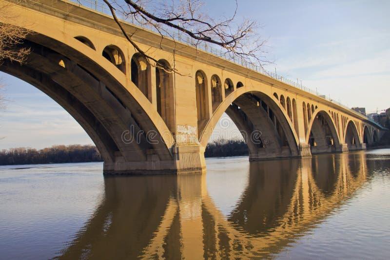 Puente de Georgetown fotografía de archivo