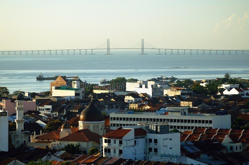Puente de Georgetown - de Penang fotografía de archivo libre de regalías
