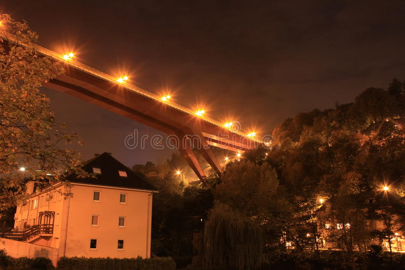 Puente de grande duquesa Charlotte imagen de archivo