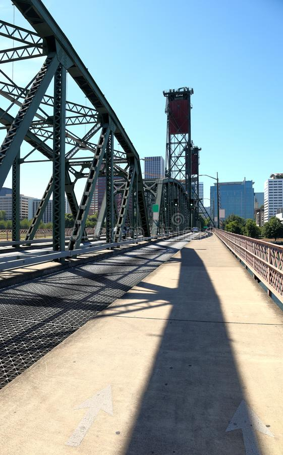 Puente de Hawthorne, Portland Oregon imagen de archivo libre de regalías