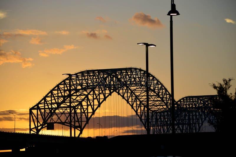 Puente de Hernando de Soto fotografía de archivo libre de regalías