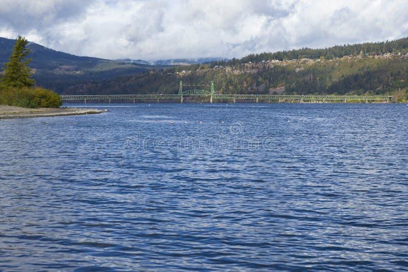 Puente de Hood River, Oregon, los E.E.U.U. imagen de archivo libre de regalías