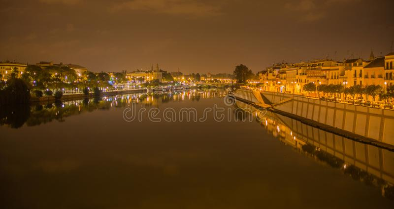 Puente de Isabel II, Puente de Triana, Sevilla fotografía de archivo
