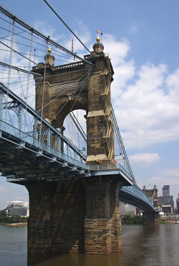 Puente de Juan A. Roebling foto de archivo libre de regalías