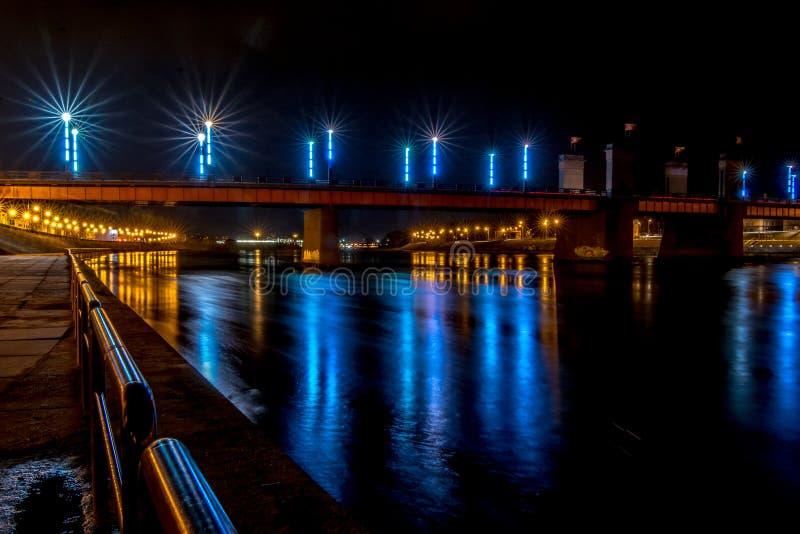 Puente de Kaunas Aleksotas fotografía de archivo libre de regalías