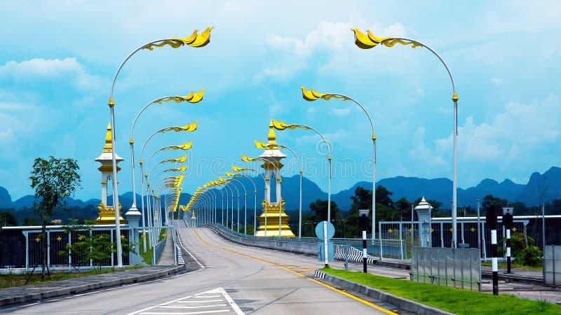 Puente de la amistad del Tailandés-Lao fotografía de archivo libre de regalías
