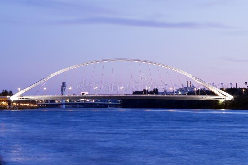 Puente de la b+Barqueta immagini stock