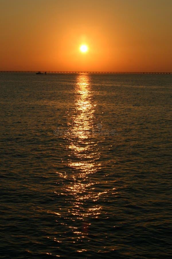 Puente de la bahía de Chesapeake en Virginia fotografía de archivo libre de regalías