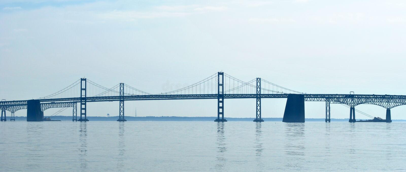 Puente de la bahía en Maryland fotografía de archivo libre de regalías