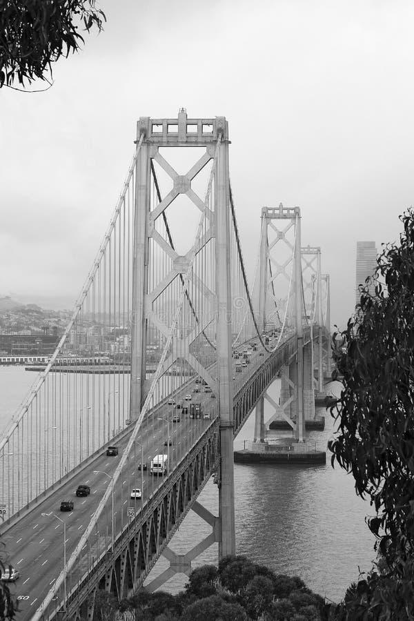 Puente de la bahía, San Francisco, CA, foto de archivo libre de regalías