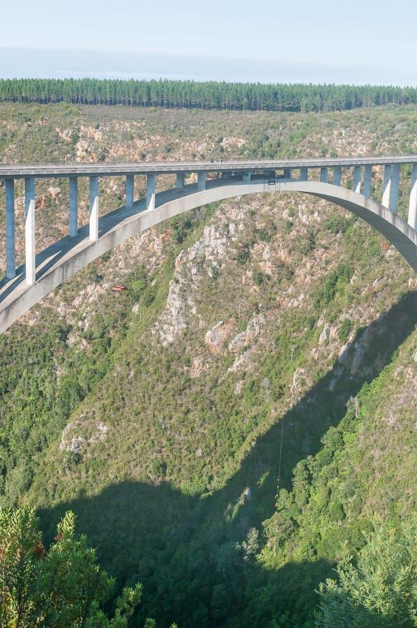 Puente de la base del puente de Bloukrans fotografía de archivo libre de regalías