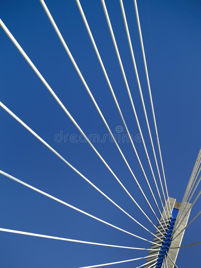 puente de la cable-estancia del Multi-palmo de Río - Antirio, Grecia imagen de archivo libre de regalías