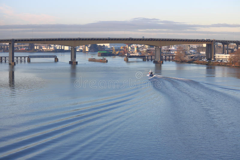 Puente de la calle del roble del ` s de Vancouver foto de archivo libre de regalías