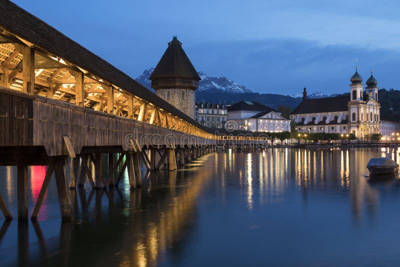 Puente de la capilla - Lucerna - Seitzerland imágenes de archivo libres de regalías