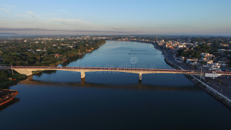 Puente de la ciudad de Veracruz vista de un dron fotografía de archivo libre de regalías