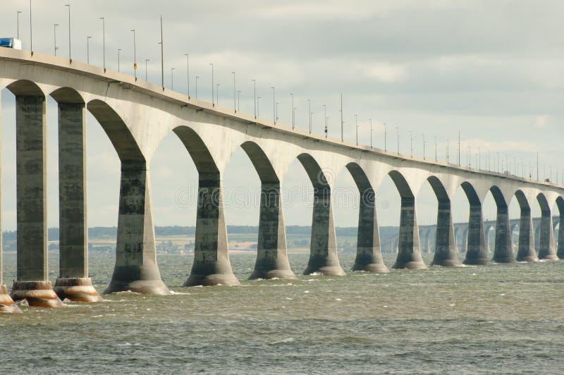 Puente de la confederación - Canadá foto de archivo