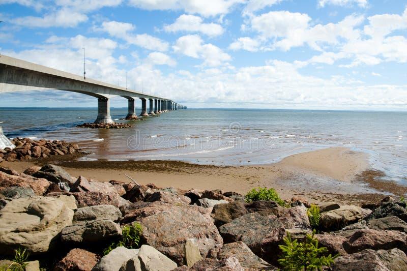 Puente de la confederación - Canadá foto de archivo libre de regalías