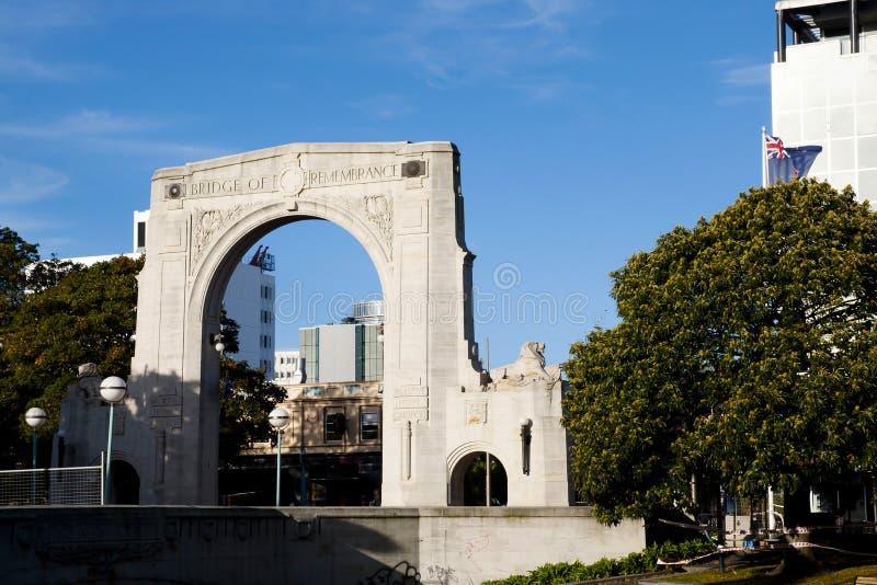 Puente de la conmemoración - Christchurch - Nueva Zelanda fotografía de archivo
