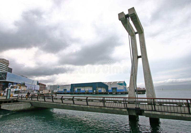 Puente de la costa, Kumutoto del norte, Wellington, Nueva Zelanda imágenes de archivo libres de regalías