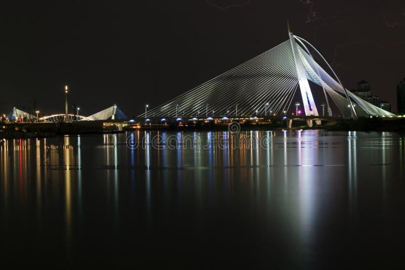Puente de la firma del puente de Seri Wawasan @ imagen de archivo