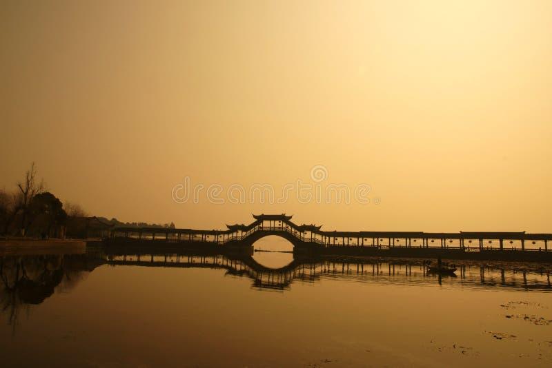 Puente de la galería del arco fotos de archivo