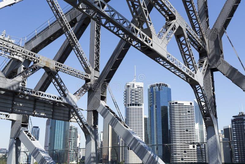 Puente de la historia de Brisbane imagenes de archivo