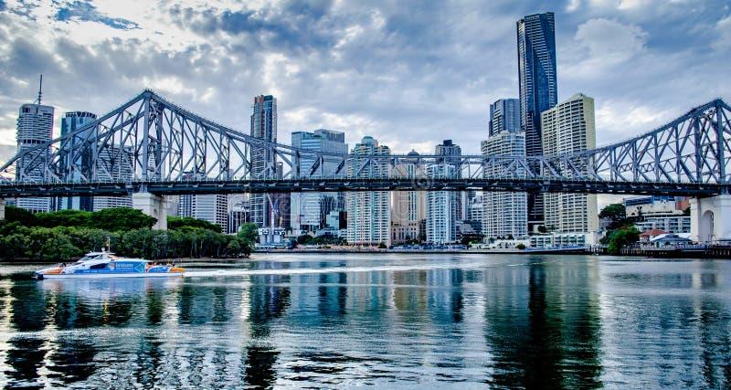 Puente de la historia de Brisbane fotos de archivo libres de regalías