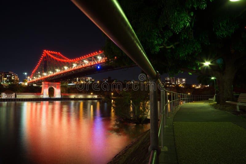 Puente de la historia visto de debajo, Brisbane, Australia imagen de archivo