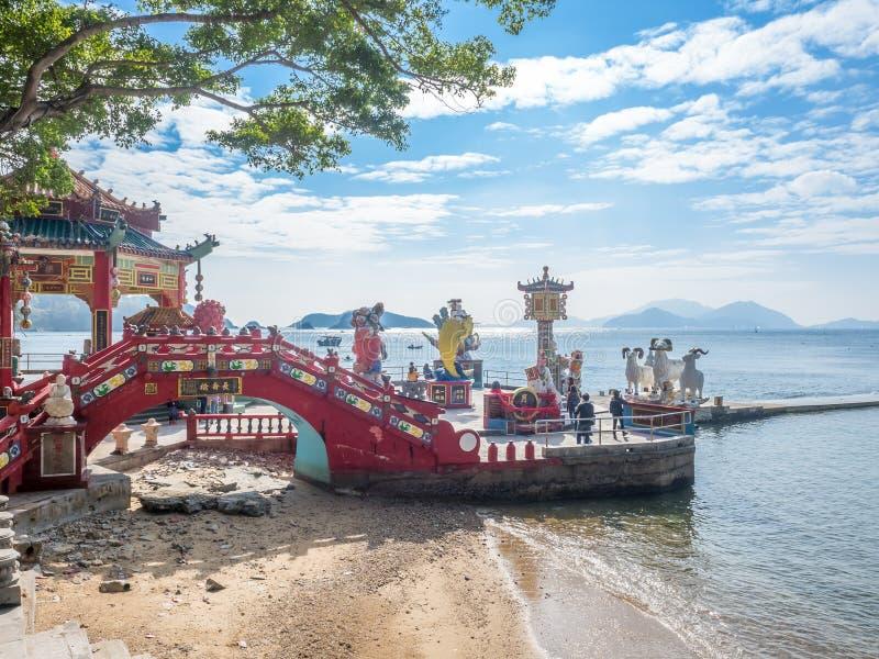 Puente de la longevidad en la bahía de la repulsión, Hong Kong fotos de archivo