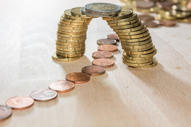 Puente de la moneda imagen de archivo