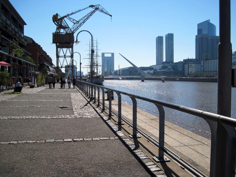 Puente de la Mujer Puerto Madero Buenos Aires Argentinien stockfotos