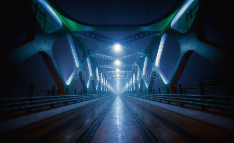Puente de la noche foto de archivo