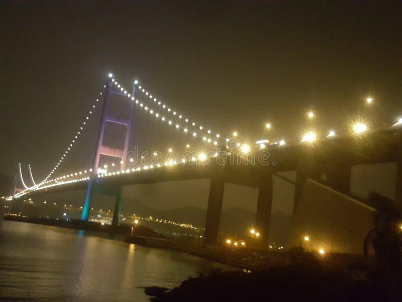 Puente de la noche imagen de archivo