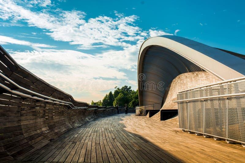 Puente de la onda en Singapur fotografía de archivo libre de regalías