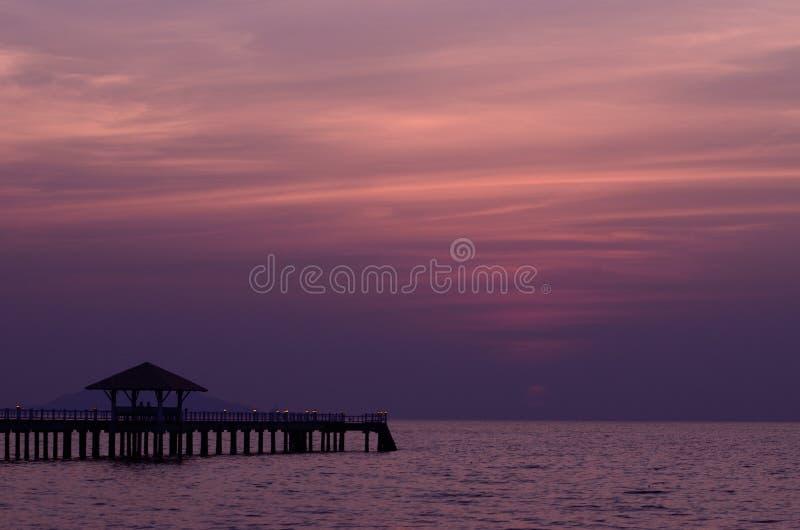 Puente de la puesta del sol fotos de archivo libres de regalías