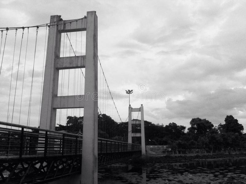 Puente de la suspensión Bridge imagen de archivo