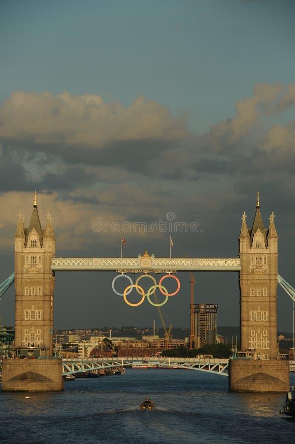 Puente De La Torre, Londres Durante Las 2012 Olimpiadas Imagen de archivo editorial