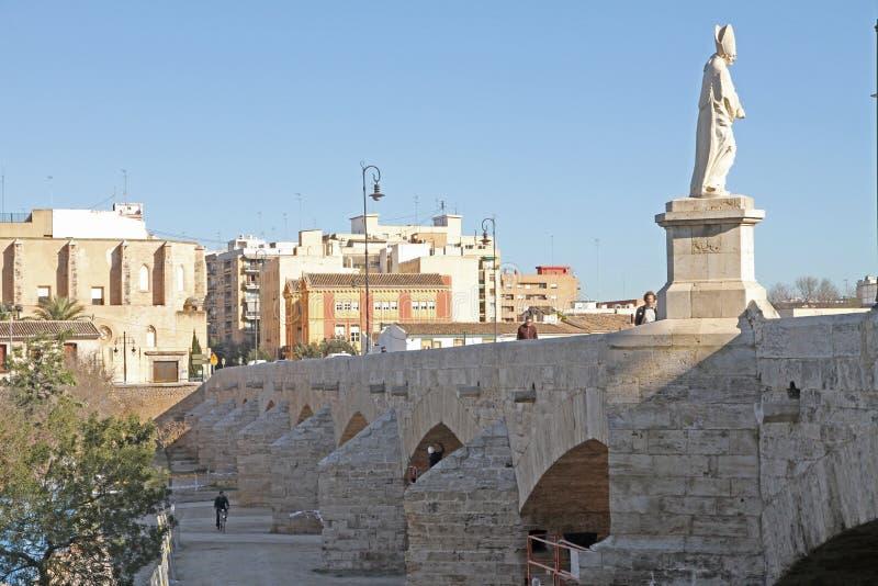 Puente de La Trinidad, Valencia, Spagna fotografie stock libere da diritti