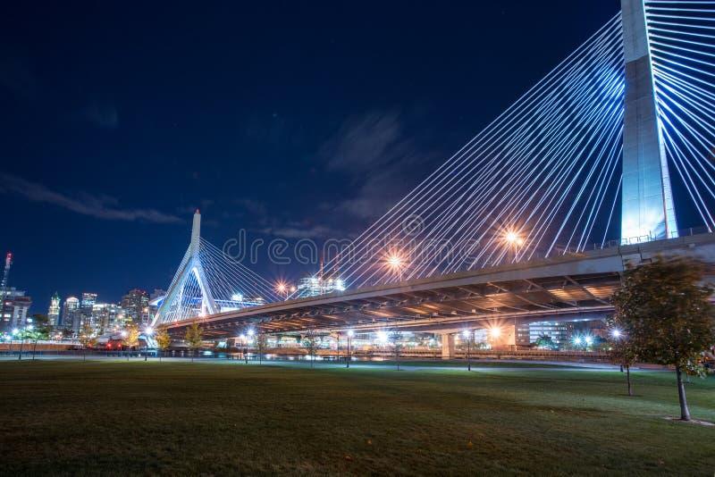 Puente de Leonard P Zakim foto de archivo libre de regalías