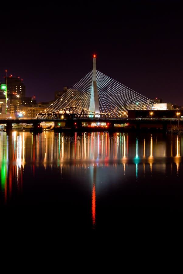 Puente de Leonard Zakim imágenes de archivo libres de regalías