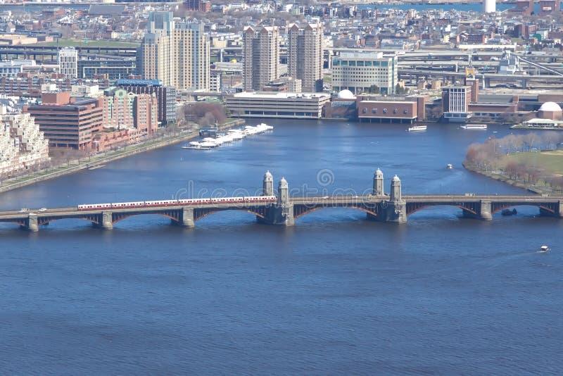 Puente de Longfellow, Boston foto de archivo libre de regalías
