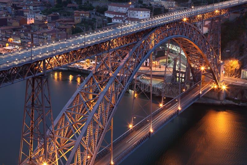 Puente de los Dom Luis en Oporto imagen de archivo libre de regalías
