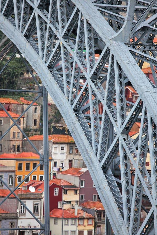 Puente de los Dom Luis en Oporto imagenes de archivo